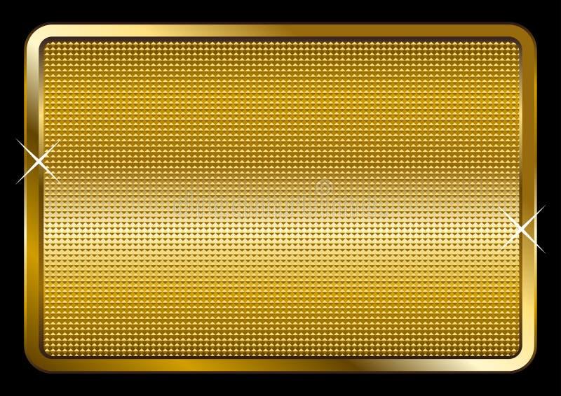 Placa de ouro ilustração do vetor