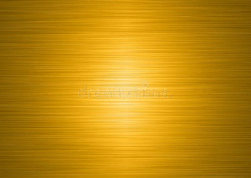 Placa de ouro escovada ilustração do vetor