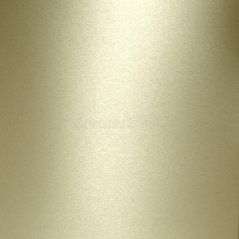 Placa de ouro escovada foto de stock