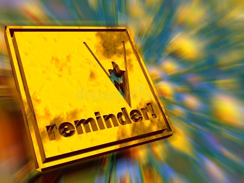Download Placa de ouro, lembrete. ilustração stock. Ilustração de lembrete - 541228