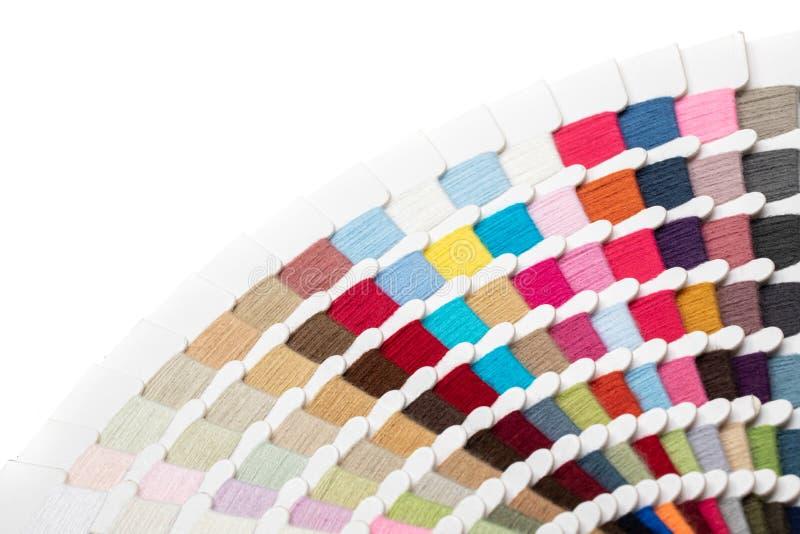 Placa de paleta de cores de thread foto de stock