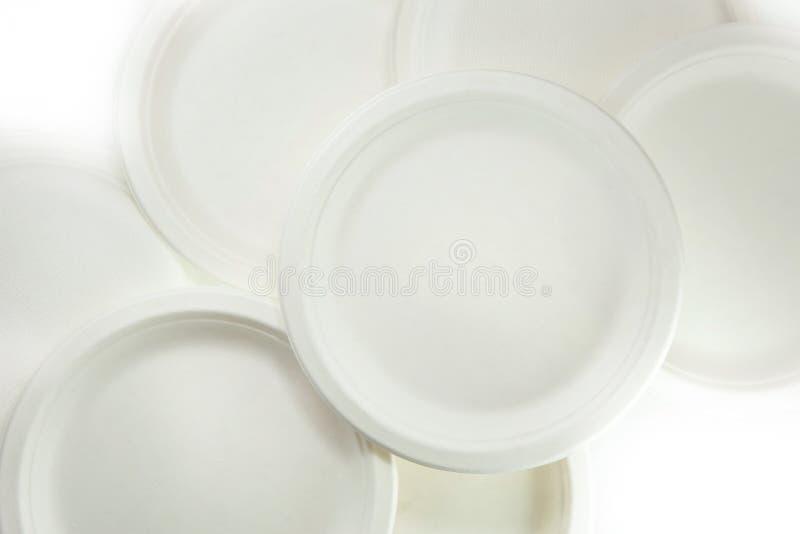 Placa de papel da biodegradação (prato) feita do bargasse imagem de stock