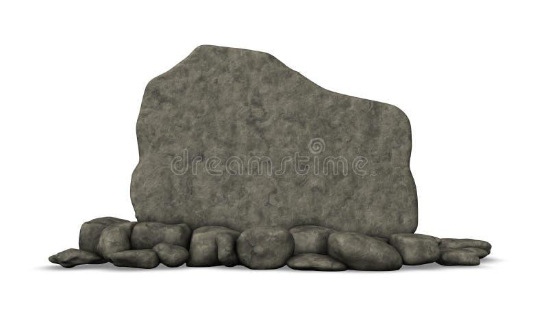 Placa de pedra ilustração do vetor