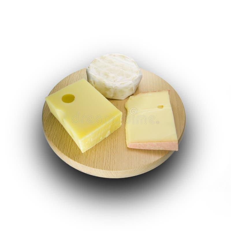 Placa de queijo suíço imagens de stock royalty free