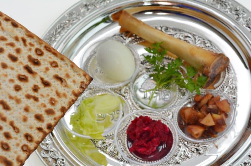 Placa de Seder del Passover fotos de archivo libres de regalías
