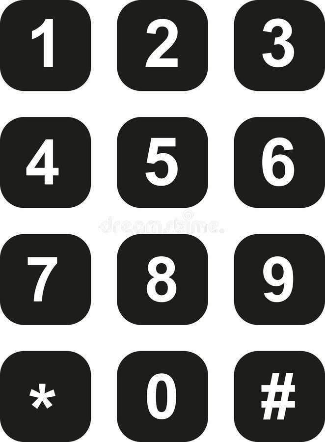 Placa de seletor do telefone ilustração stock