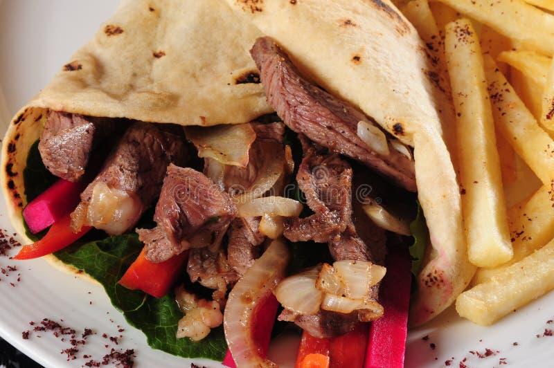Placa de Shawarma. foto de stock royalty free
