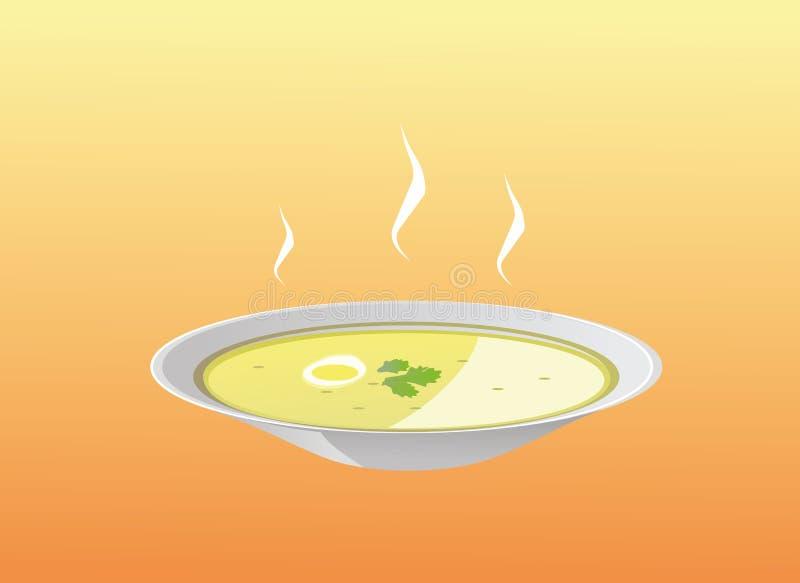 Placa de sopa ilustración del vector