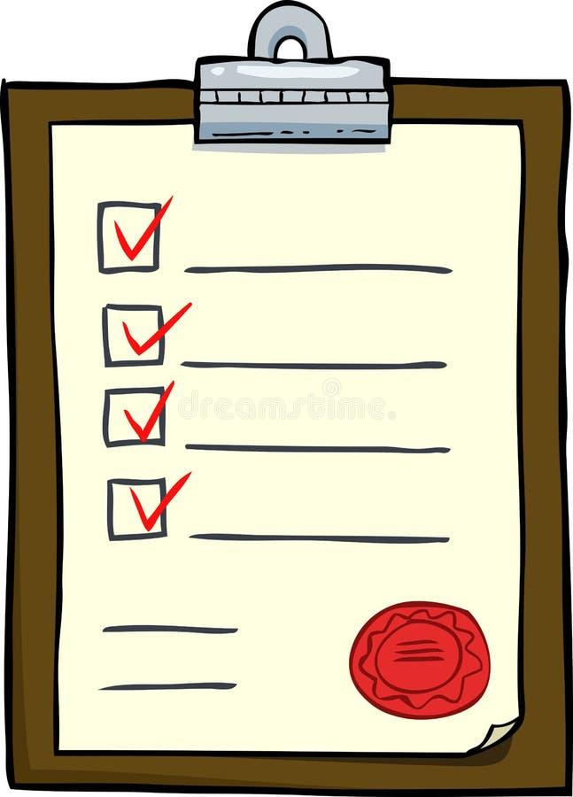 Placa de tabela plana ilustração stock