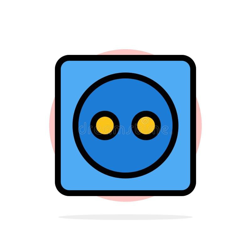 Placa de tomada, Eco, energia, do fundo abstrato do círculo do poder ícone liso da cor ilustração do vetor