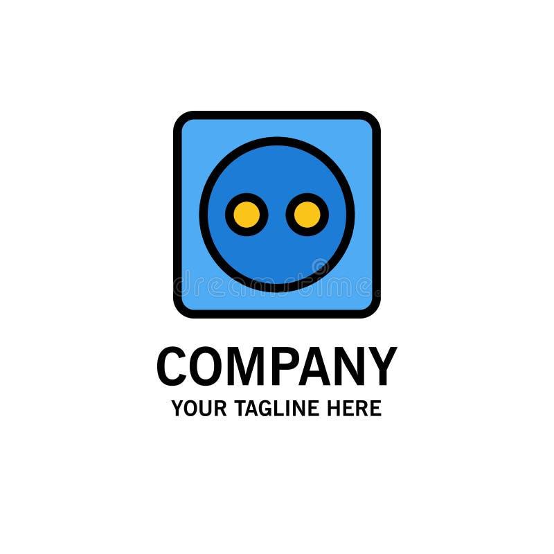 Placa de tomada, Eco, energia, negócio Logo Template do poder cor lisa ilustração royalty free