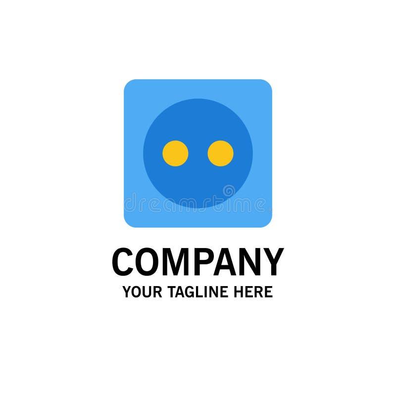 Placa de tomada, Eco, energia, negócio Logo Template do poder cor lisa ilustração stock