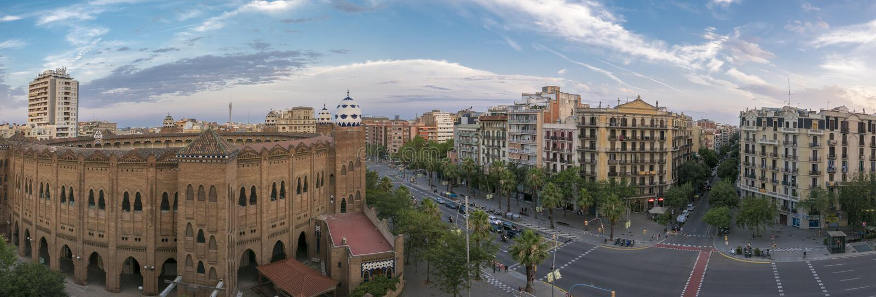 Placa DE Toros Monumental - Arena van Barcelona stock afbeeldingen