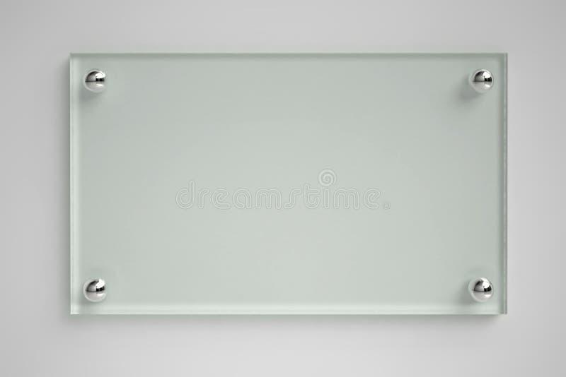 Placa de vidro transparente ilustração stock
