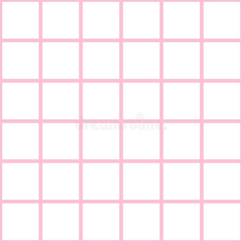Placa de xadrez branca Diamond Background Vetora da grade cor-de-rosa ilustração royalty free