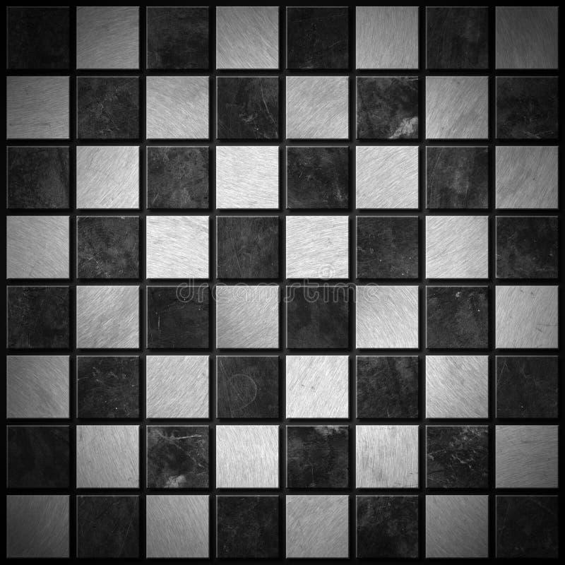 Placa de xadrez metálica ilustração royalty free