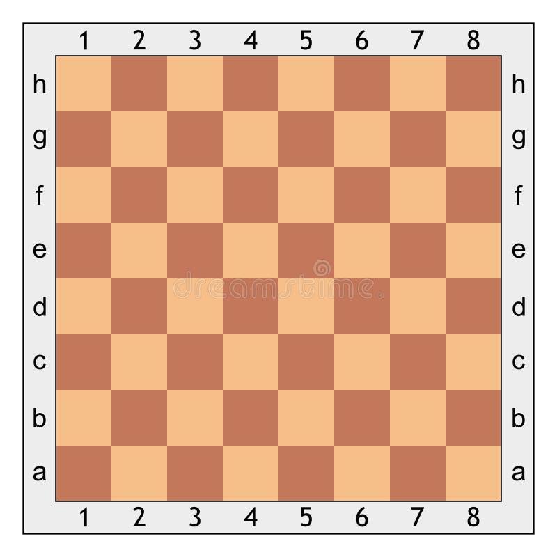 Placa de xadrez para o jogo de xadrez ilustração do vetor
