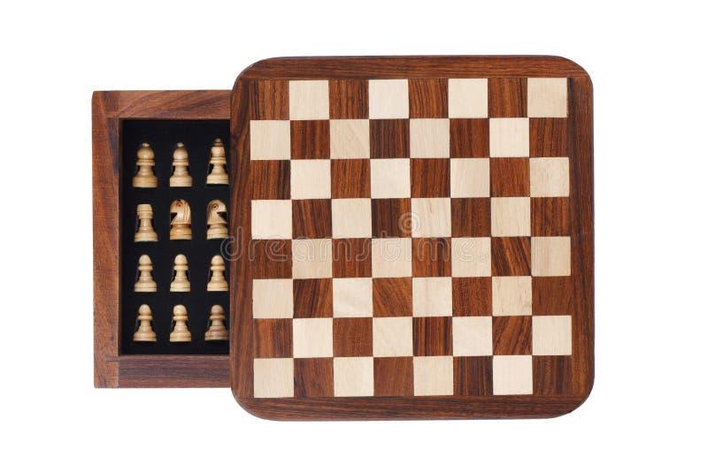 Placa de xadrez portátil do bolso foto de stock royalty free