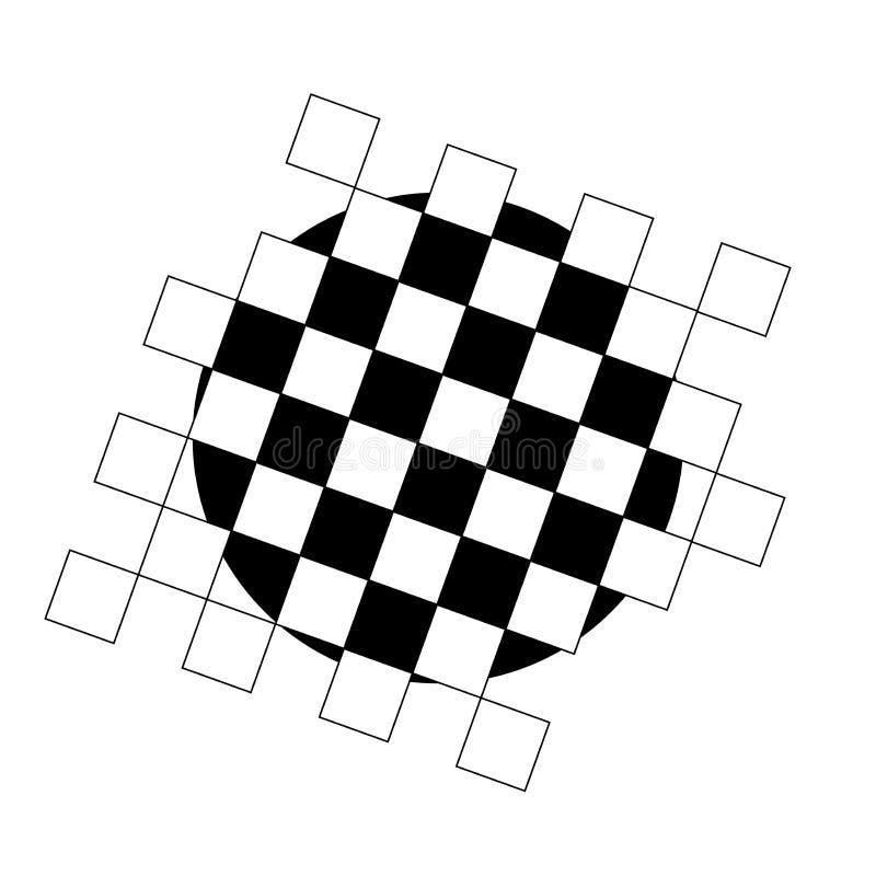 Placa de xadrez vazia Placa de xadrez Textura Ilustra??o do vetor ilustração royalty free