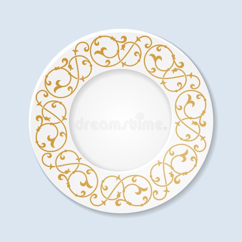 Download Placa Decorativa Com Ornamento Floral Ilustração do Vetor - Ilustração de sumário, árabe: 65578290