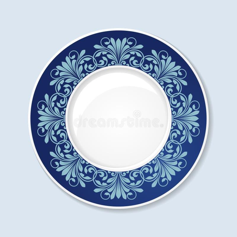 Download Placa Decorativa Com Ornamento Floral Ilustração do Vetor - Ilustração de clássico, flor: 65578323