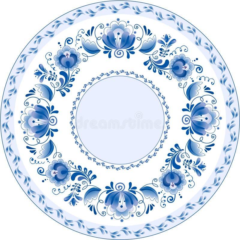 Download Placa Decorativa Decorativa Do Russo. Ghzel Ilustração do Vetor - Ilustração de estilo, flor: 16865002