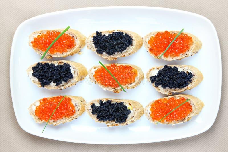 Placa del caviar fotografía de archivo libre de regalías