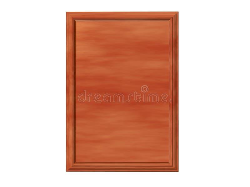 Placa del cedro ilustración del vector