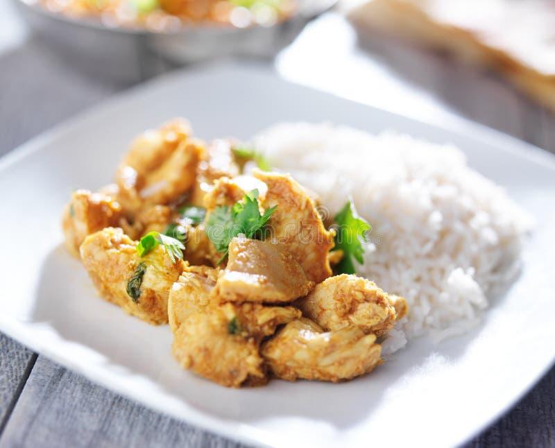 Placa del curry indio del pollo de la mantequilla foto de archivo libre de regalías