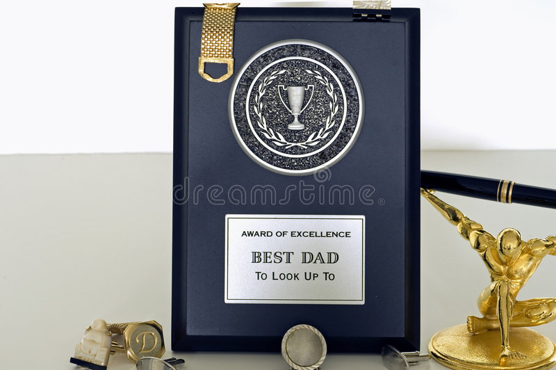 Placa del día de padre para el papá 2 imagen de archivo libre de regalías