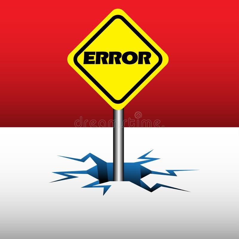 Placa del error libre illustration
