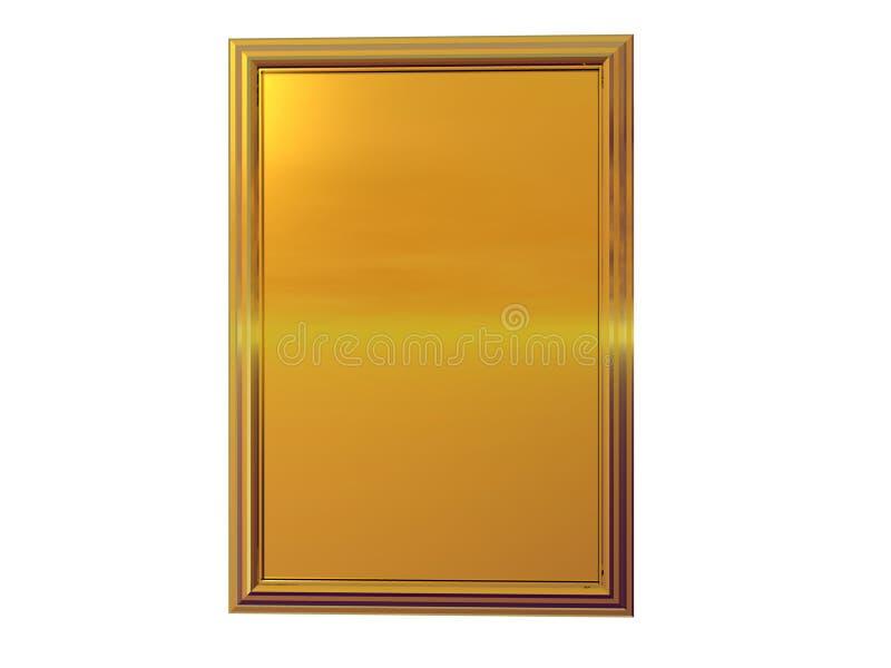 Placa del oro ilustración del vector
