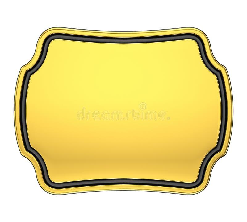 Placa del oro imágenes de archivo libres de regalías
