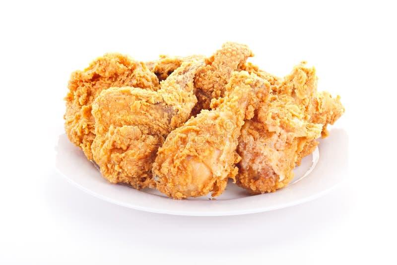 Placa del pollo frito curruscante imagenes de archivo