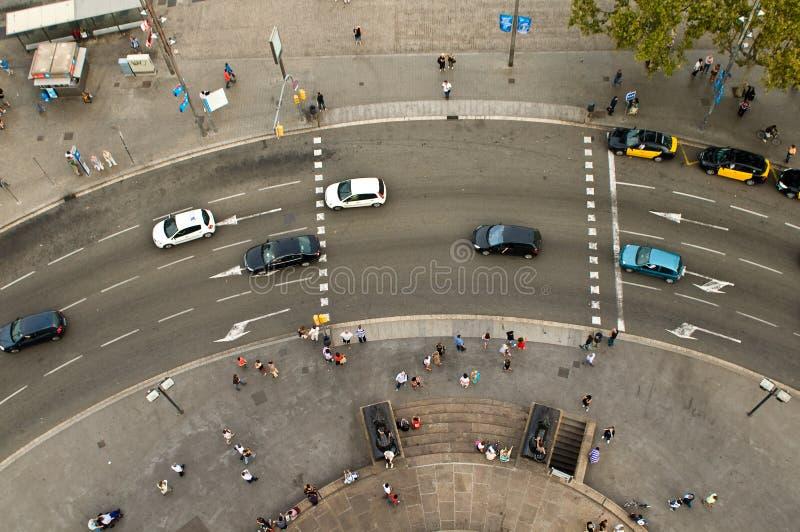 Placa del Portal de la Pau view stock photos