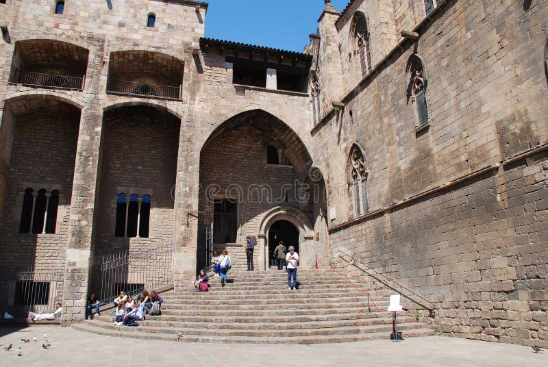 Placa del Rei, Barcelona fotos de archivo libres de regalías
