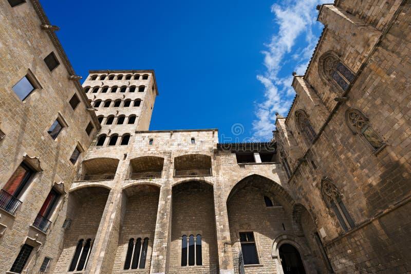 Placa del Rei - Barcelona España foto de archivo libre de regalías