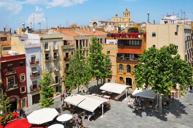 Placa del Rei en oude stad van Tarragona, Spanje royalty-vrije stock afbeeldingen
