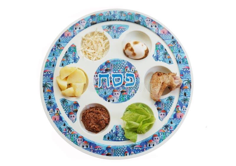Placa del seder del Passover imagen de archivo libre de regalías