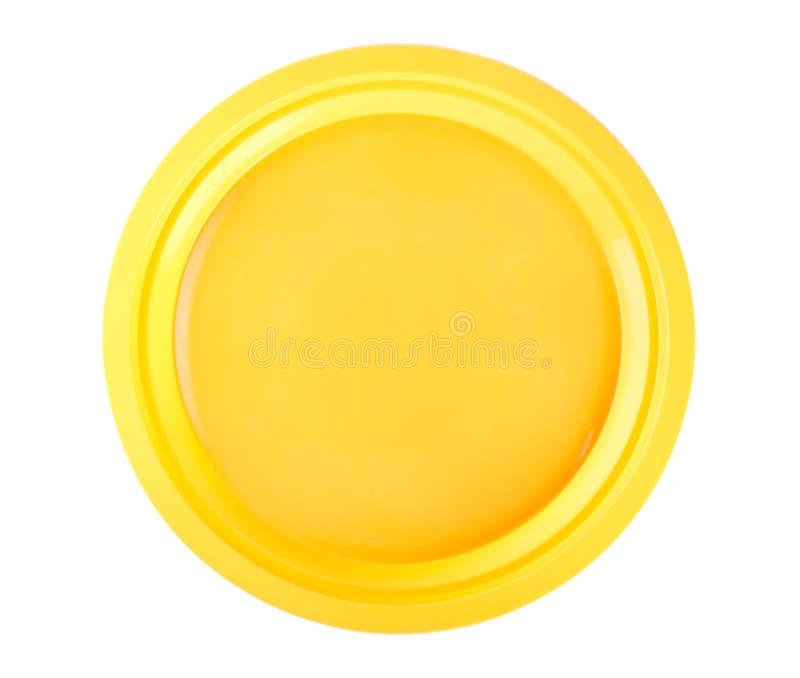 Placa descartável amarela fotos de stock royalty free