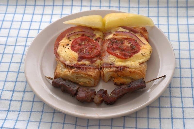 Download Placa divertida foto de archivo. Imagen de desayuno, restaurante - 25318