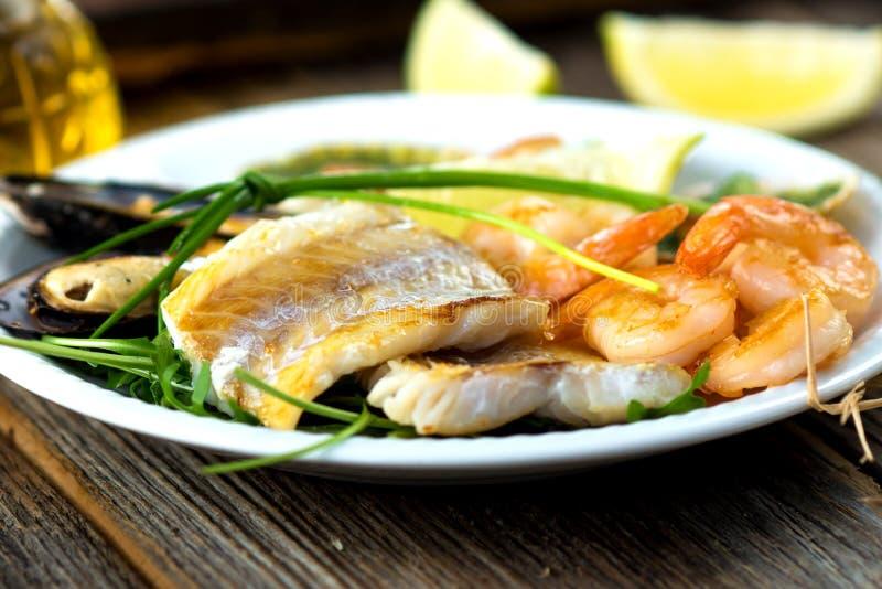Placa do alimento de mar fotos de stock royalty free
