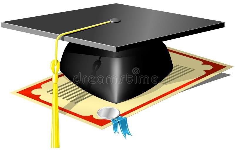 Placa do almofariz da graduação ilustração do vetor