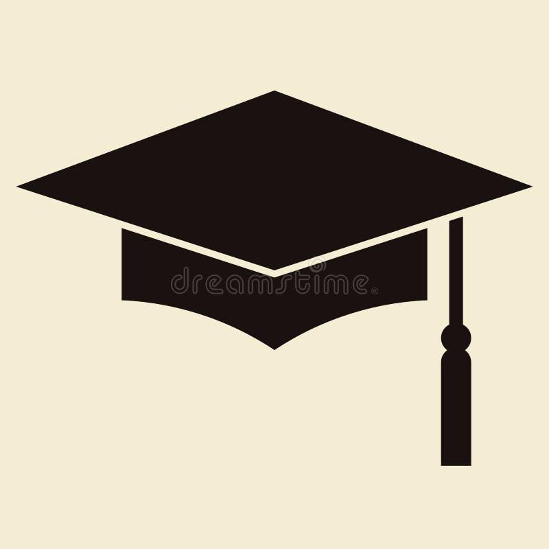 Placa do almofariz ou tampão da graduação ilustração do vetor