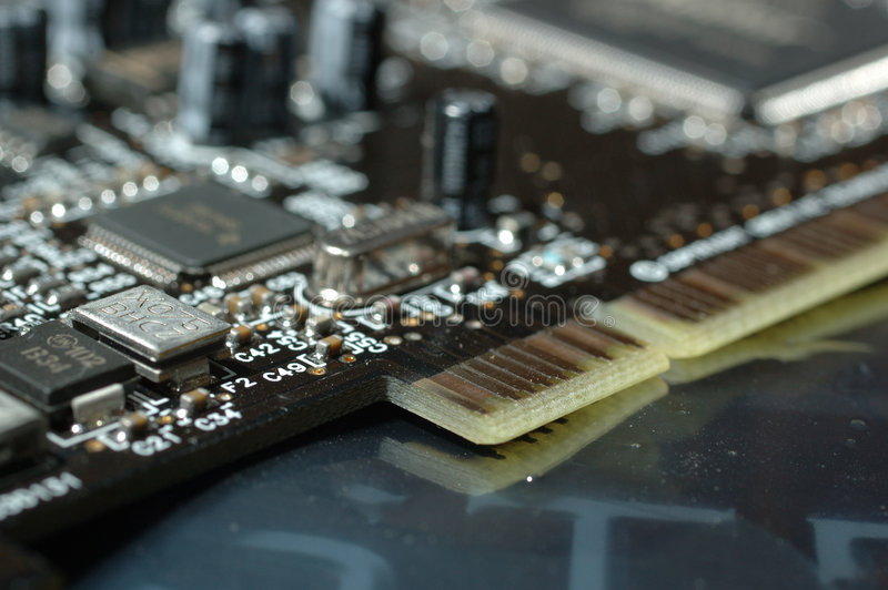 Placa do computador foto de stock