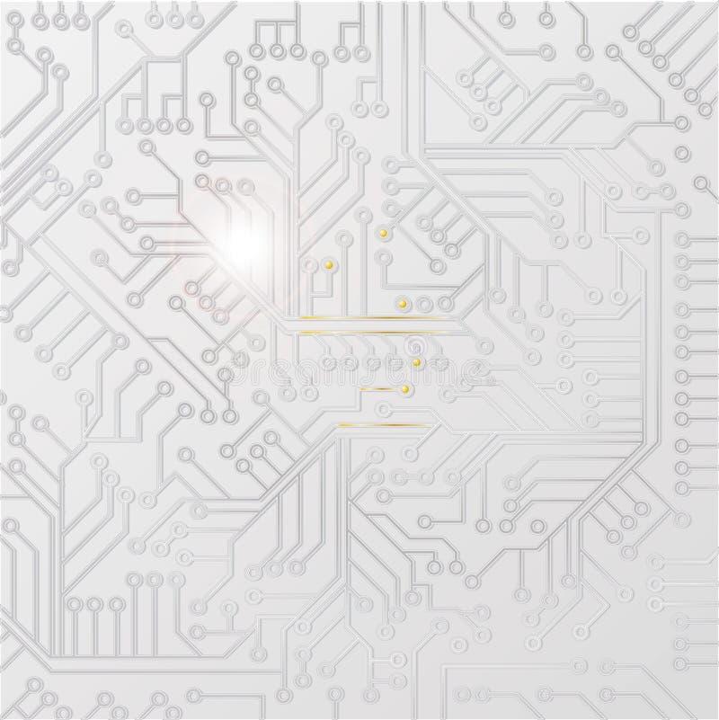 Placa do computador com fiação ilustração do vetor