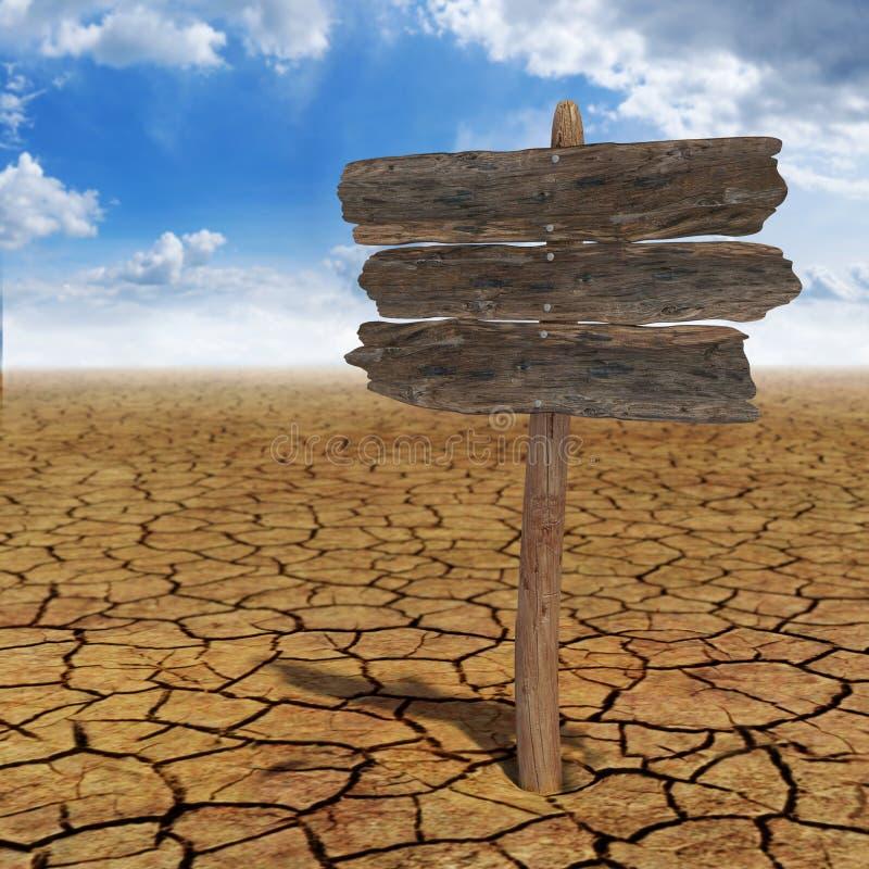 Placa do deserto ilustração do vetor