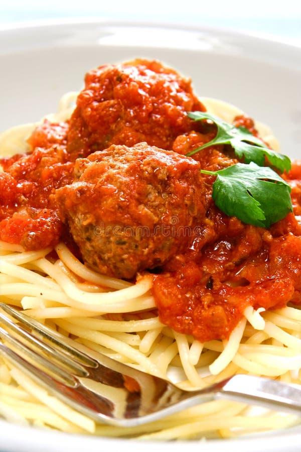 Placa do espaguete do meatball imagem de stock royalty free