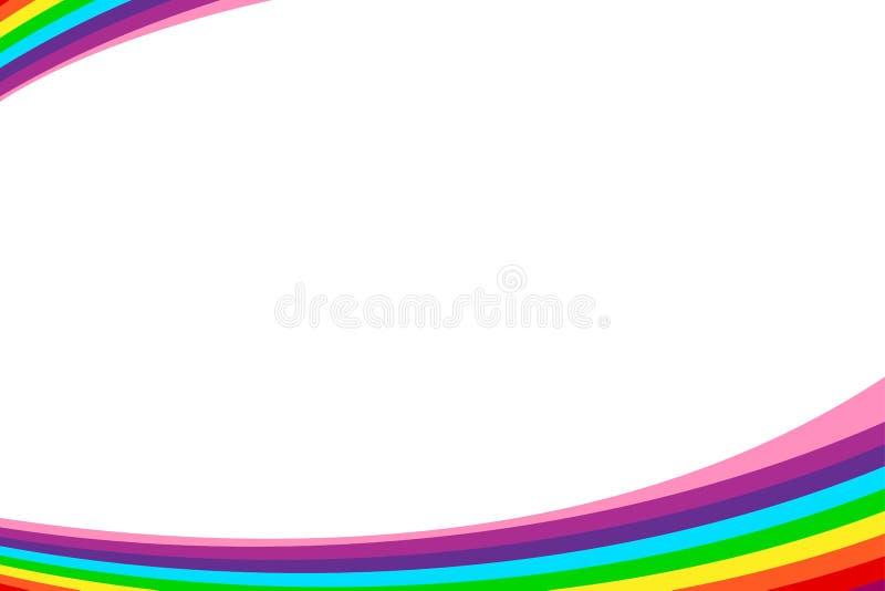 Placa do fundo do quadro do molde da Web da bandeira do arco-íris e espaço coloridos da cópia para anunciar o desconto da venda d ilustração do vetor