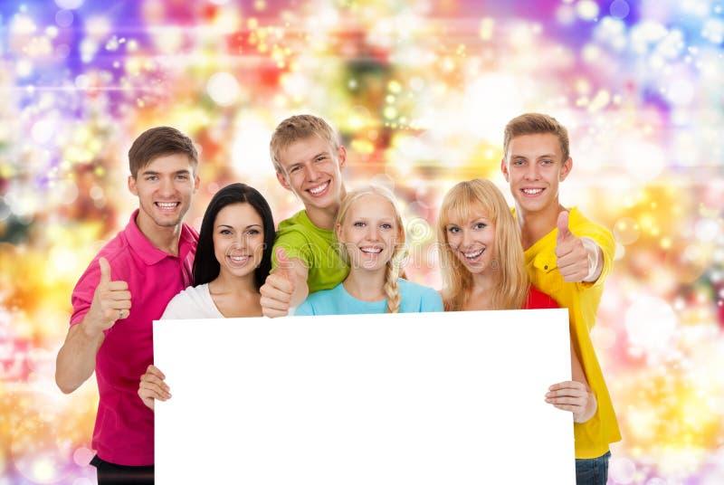 Placa do grupo de pessoas imagem de stock royalty free